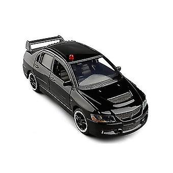おもちゃの車エボix 9警察モデルおもちゃ車シミュレーション音と光evo x 10ダイキャスティングトイカーモデルブラック
