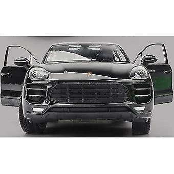 Toy cars 1:24 porsche macan turbo suv car simulation die casting alloy car model ornaments collection