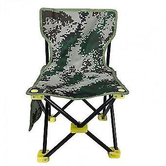 Sedia pieghevole portatile in tela antiscivolo con schienale per esterni, spiaggia, pesca, caccia, campeggio