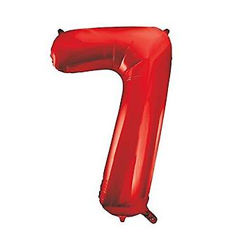 """55857 - 34"""" Riesen-Ballon mit roter Folie Nummer 7"""