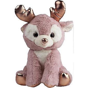 Sitting Reindeer Plush 25CM – Rose Gold