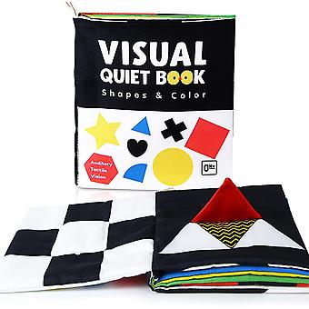 Soft Baby Books, High Contrast Black And White Books Nontoxic Fabric Touch And Feel Crinkle Cloth Books Early Educational Stimulation Toys F