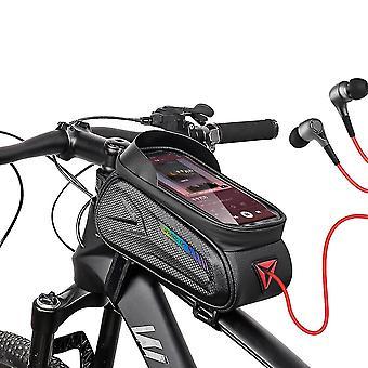 Caraele Bicycle Rack Bag Bike Phone Front Frame Bag Bike Phone Case Holder