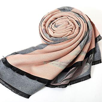 Women's Thickened Warmth Double-sided Dual-use Fashion Tulip Flower Scarf