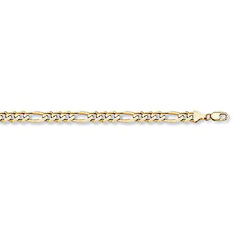 4mm Figaro Armband in 14K Gelbgold
