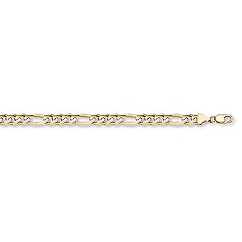4mm Figaro Bracelet in 14K Yellow Gold