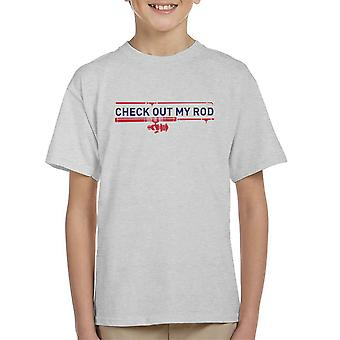 Check Out My Rod Fishing Kid's T-Shirt