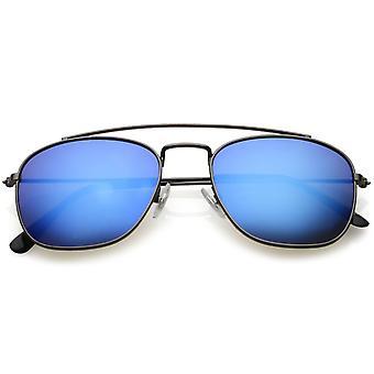 Classic Metal Aviator Okulary zakrzywiona poprzeczka dublowanego kwadratowych obiektyw 53mm