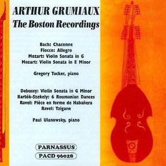 Arthur Grumiaux - Arthur Grumiaux: The Boston Recordings [CD] USA import