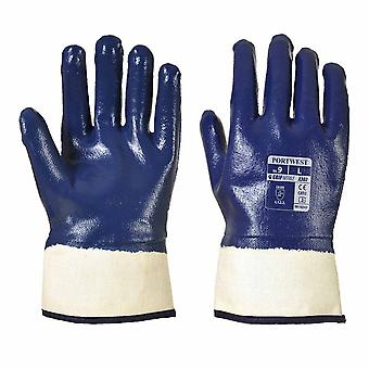 Portwest - Fully Dipped Nitrile Safety Cuff Glove (1 Pair Pack)
