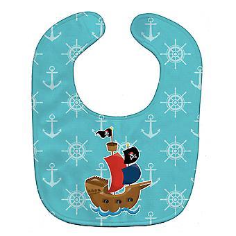 Carolines Treasures  BB8968BIB Pirate Ship Blue Baby Bib