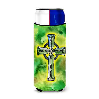 Irish Celtic Cross Michelob Ultra Hugger for slim cans