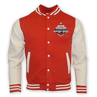 River Plate College Baseball Jacket (rot)