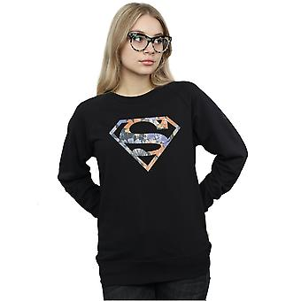 DC Comics Frauen Superman Floral Logo 2 Sweatshirt