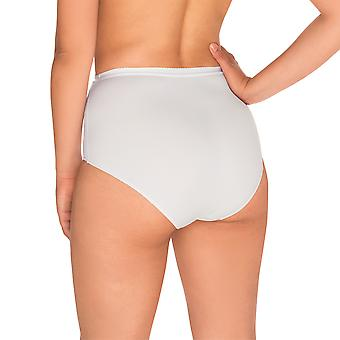Sans Complexe 1538-Blanc vrouwen perfecte Lift witte firma/Medium controle inwikkeling Shaping hoge taille kort