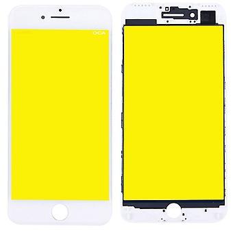 Vise glass for Apple iPhone 7 4.7 skjermglass LCD + bilde + OCA lim deler hvit