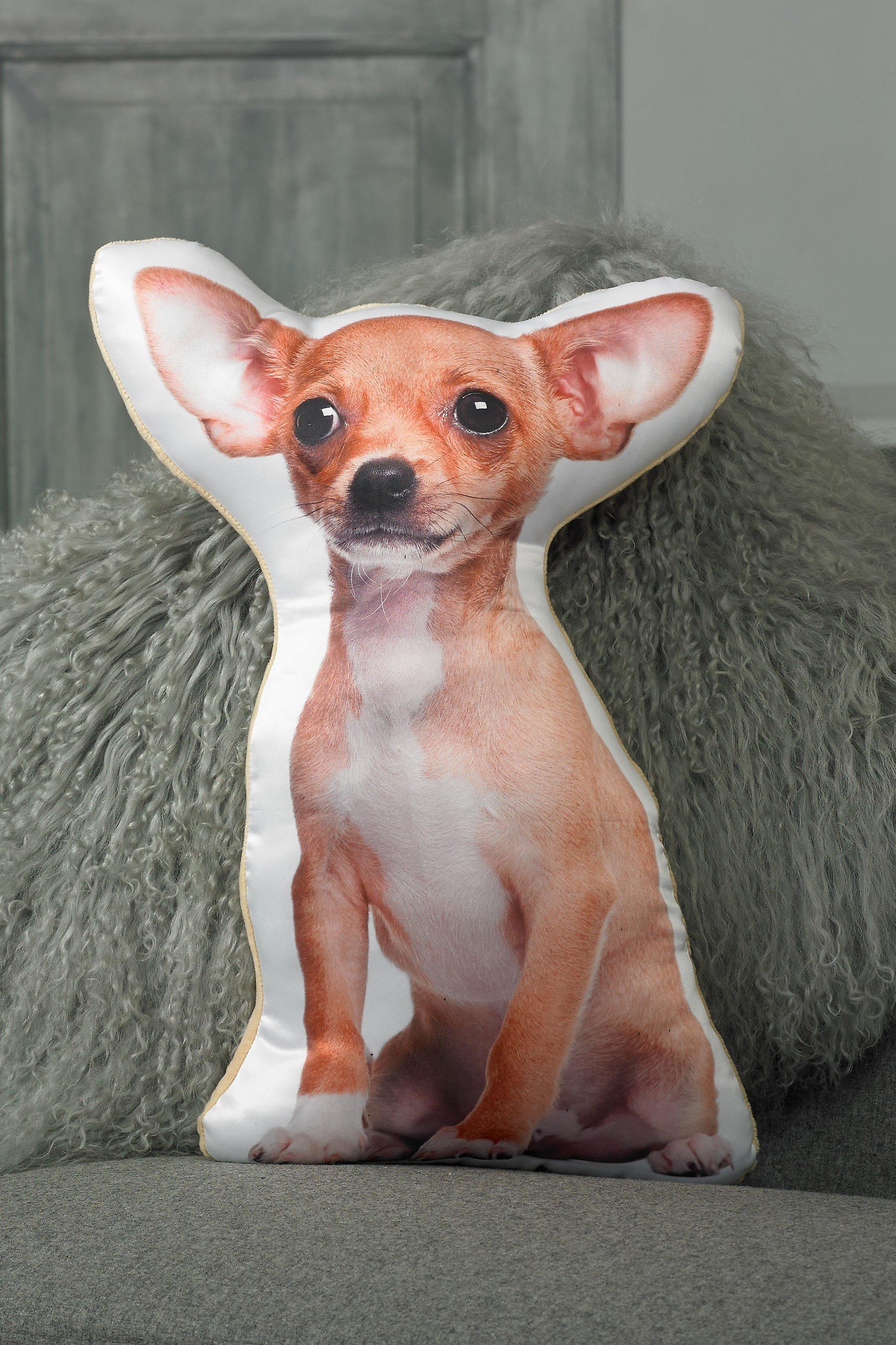 Adorable short haired chihuahua shaped cushion