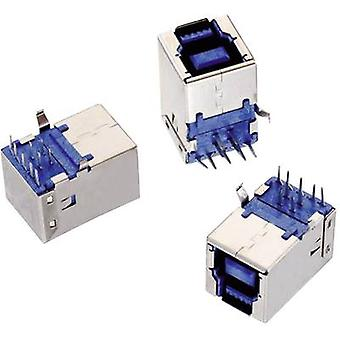 USB 3.0 Typ B liegen WR-COM-Buchse, horizontale Halterung WR-COM Würth Elektronik Content: 1 PC