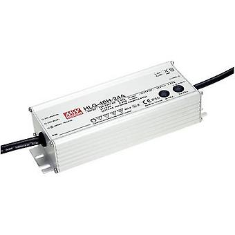 Mean Well HLG-40H-12A LED driver, LED transformer Constant voltage, Constant current 39 W 3.33 A 12 V DC PFC circuit, Surge protection, adjustable