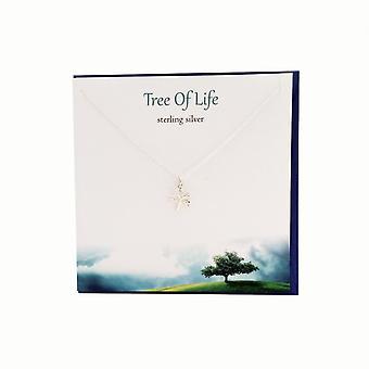 The Silver Studio Tree of Life Pendant Card