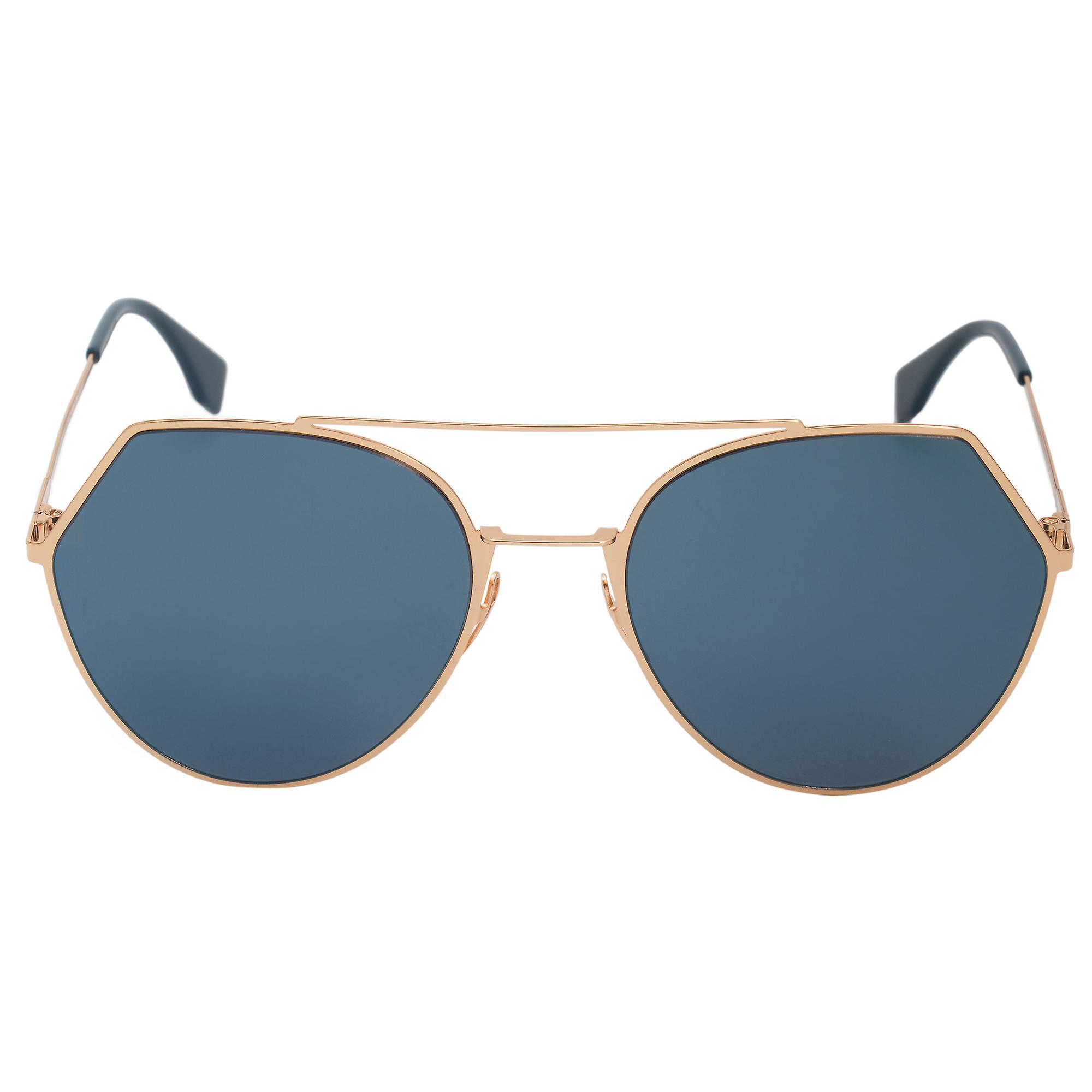 Fendi Eyeline Pilot Sunglasses FF0194S 000 2A 55