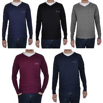 Slazenger Seve Mens gebreid V hals Golf Casual Pullover Jumper trui - Small
