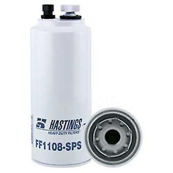 Hastings FF1108-SPS Fuel and Water Separator Spin-On Filter with Drain Sensor Port and Reusable Sensor