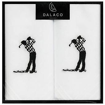 Dalaco Golfer Handkerchiefs - White
