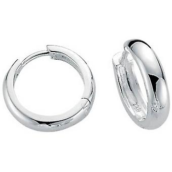 Beginnings Polished Hoop Earrings - Silver