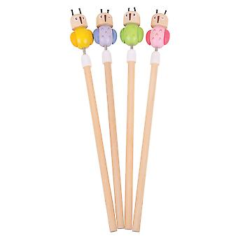Bigjigs Toys Children's Wooden Owl Pencils (Pack of 6) Kid's Stationery