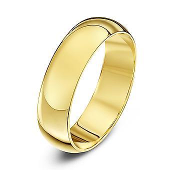 Anéis de casamento estrela anel de casamento de 5mm de D Extra pesado ouro amarelo 18 quilates