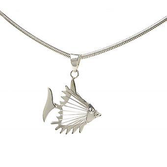 Cavendish Français poisson ouvert pendentif sans chaîne