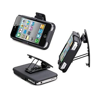 Delton Shell Case and Holster Combo for Apple iPhone 4 - Black