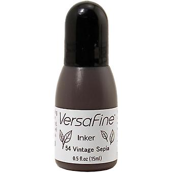 VersaFine Pigment Ink Refill .5oz - Vintage Sepia