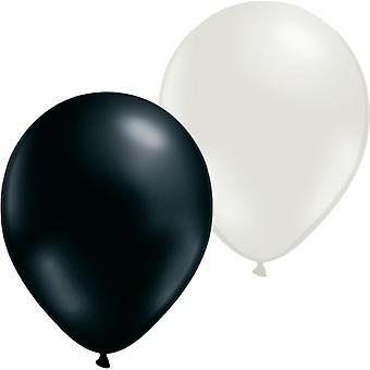 Balloons 24-pack Mix White and Black