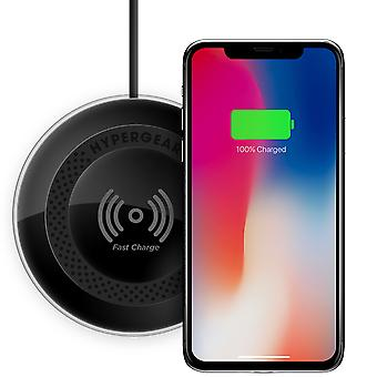 HyperGear ChargePad Pro Wireless Fast Charger for Qi-Enabled Devices - Black