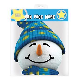 Snowman Christmas Party Card Fancy Dress Mask