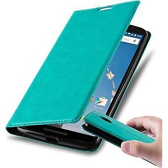 Cadorabo geval voor Lenovo Google NEXUS 6/6X gevaldekking-telefoon geval met magnetische sluiting, stand functie en kaart geval compartiment-Case cover geval geval geval boek vouwen stijl