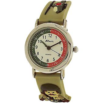 Ravel Time Teacher 3D Army Green Rubber Watch + Telling Time Award R1513.44