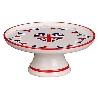 I Love UK Cake Stand Ceramic 22cm