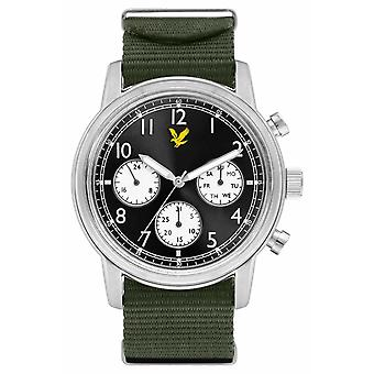 Lyle & Scott Mens Command gröna Nato-armband Black Dial LS-6005-02 Watch