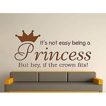 Being A Princess Wall Art Sticker - Brown