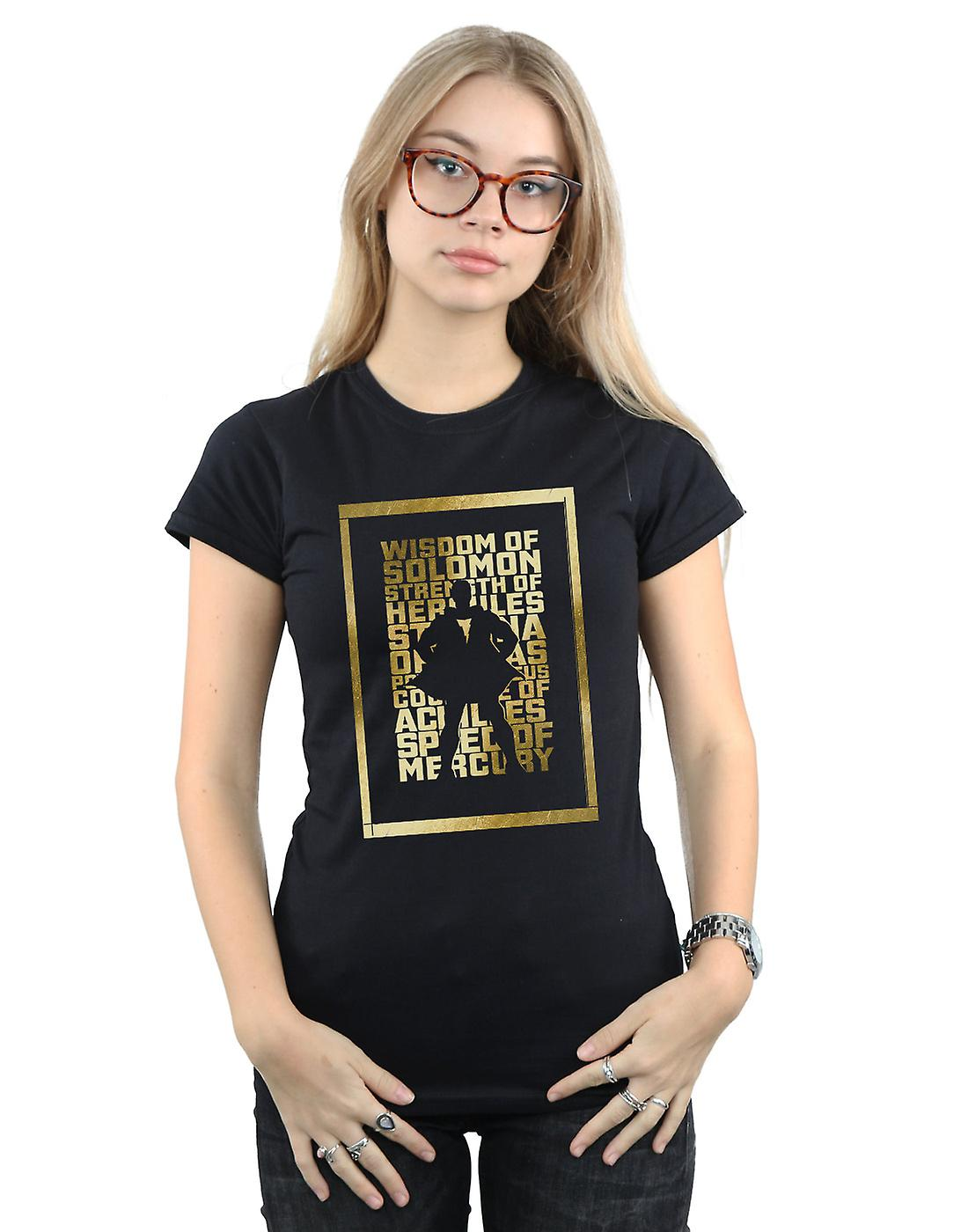 DC Comics Women's Shazam Gold Text T-Shirt