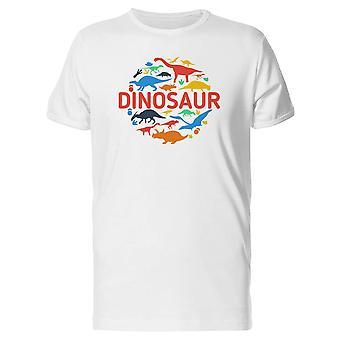 恐竜サークル アート t シャツ メンズ-シャッターによる画像