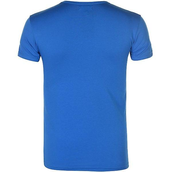 Armani Jeans Emporio Armani Crew Neck Slim Fit T-Shirt Mens Blue