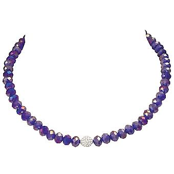 Eternal Collection Majestic Royal Blue Crystal Statement Beaded Necklace