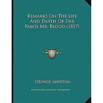 Bemerkninger om liv og død Famacentsa - en Centsd Mr. blod (1817)
