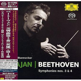 Herbert Von Karajan - Beethoven: Sinfonien Nr. 3 & 4 [SACD] USA import