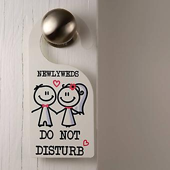 Newly Weds Door Hanger Do Not Disturb Pink