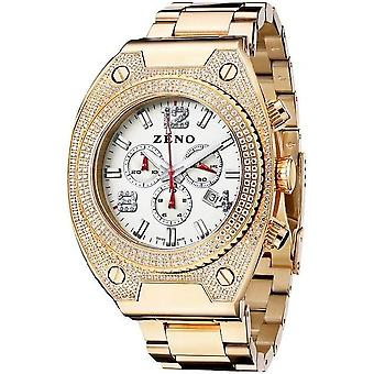 Zeno-watch mens watch bling 1 chronograph 91026-5030Q-PGR-s2M